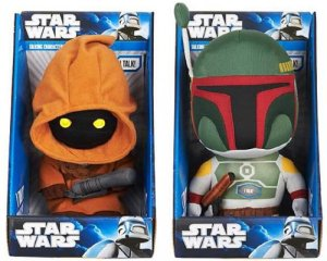 Boba Fett and Jawa plush dolls
